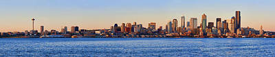 Northwest Jewel - Seattle Skyline Cityscape Poster by James Heckt