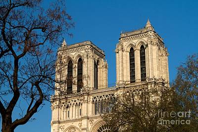 Poster featuring the photograph Notre Dame Towers by Kim Wilson