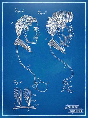 Novelty Wig Patent Artwork Poster