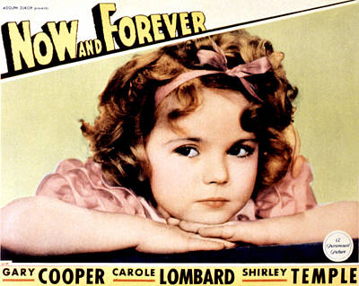 Now And Forever, Shirley Temple, 1934 Poster