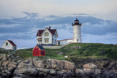 Nubble Light At Dusk Poster