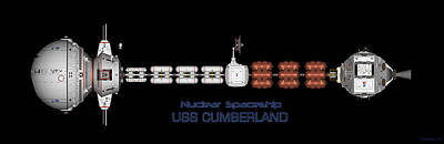 Nuclear Spaceship Uss Cumberland Poster