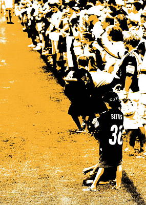 Number 1 Bettis Fan - Black And Gold Poster