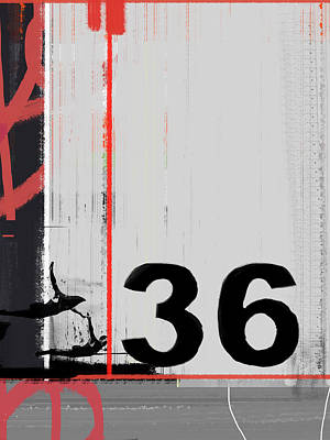 Number 36 Poster by Naxart Studio