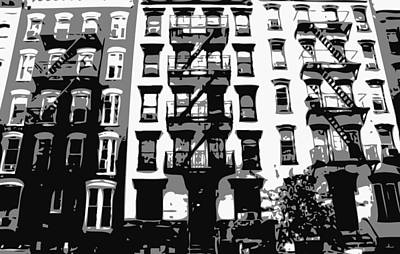 Nyc Apartment Bw3 Poster by Scott Kelley