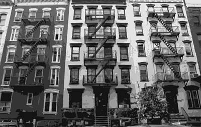 Nyc Apartment Bw8 Poster by Scott Kelley