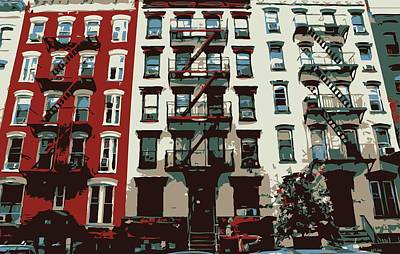 Nyc Apartment Color 6 Poster by Scott Kelley
