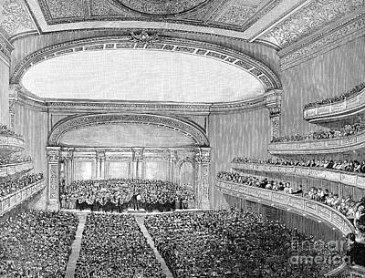 Nyc: Carnegie Hall, 1891 Poster by Granger