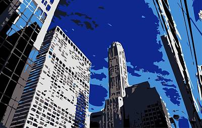 Nyc Looking Up Color 6 Poster by Scott Kelley