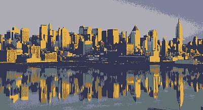 Nyc Reflection Color 6 Poster