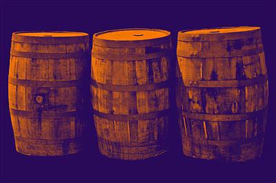 Oak Barrel Gradient Poster
