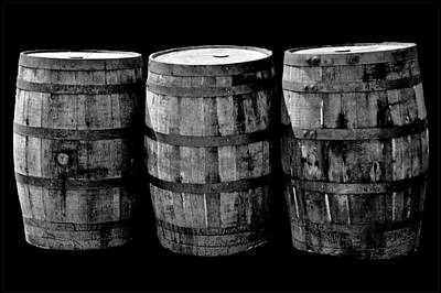 Oak Barrel Red Filter Poster by LeeAnn McLaneGoetz McLaneGoetzStudioLLCcom
