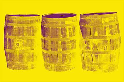 Oak Barrel Yellow Gradient Poster