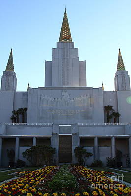 Oakland California Temple . The Church Of Jesus Christ Of Latter-day Saints . 7d11324 Poster by Wingsdomain Art and Photography
