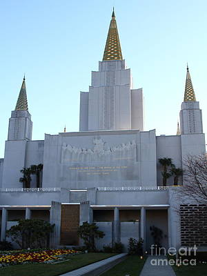 Oakland California Temple . The Church Of Jesus Christ Of Latter-day Saints . 7d11327 Poster by Wingsdomain Art and Photography
