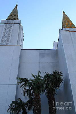 Oakland California Temple . The Church Of Jesus Christ Of Latter-day Saints . 7d11331 Poster by Wingsdomain Art and Photography