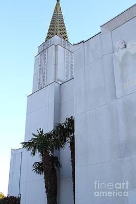 Oakland California Temple . The Church Of Jesus Christ Of Latter-day Saints . 7d11335 Poster by Wingsdomain Art and Photography