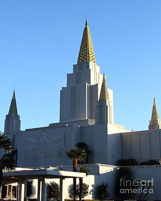 Oakland California Temple . The Church Of Jesus Christ Of Latter-day Saints . 7d11374 Poster by Wingsdomain Art and Photography