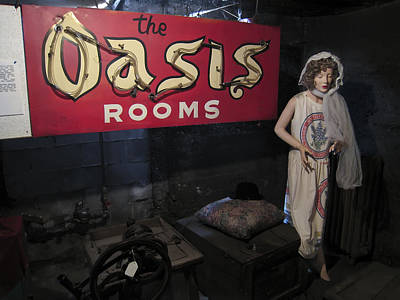 Oasis Bordello Basement - Wallace Idaho Poster