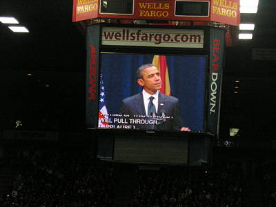 Obama At Mchale In Tucson Poster