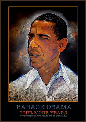 Obama Four More Years Poster by Fred Makubuya