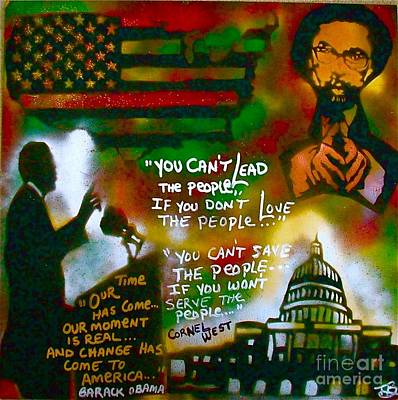 Obama Vs. Cornel Poster by Tony B Conscious