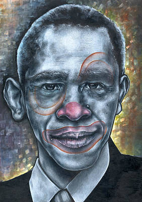 Obama's Circus Poster by Robert  Nelson
