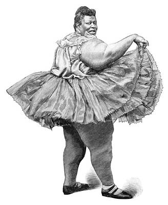 Obese Woman, 19th Century Poster