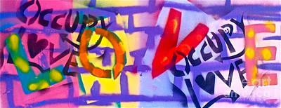 Occupy Graffiti Love Poster