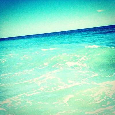 #ocean #plain #myrtlebeach #edit #blue Poster