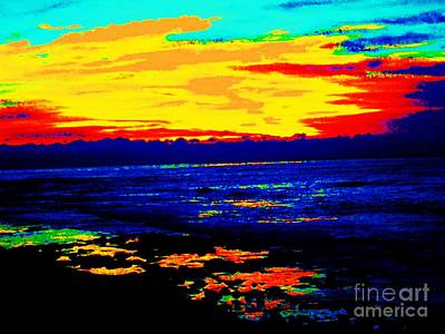 Ocean Sunset Poster by Jasna Gopic
