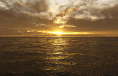 Ocean Sunset Poster by Mark Greenberg