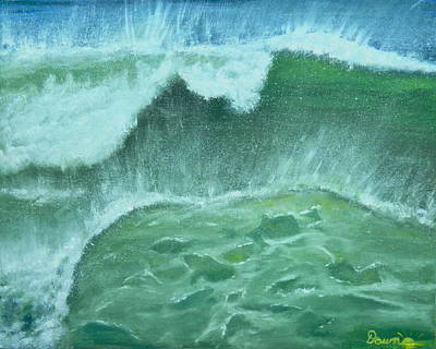 Ocean's Green Poster by Dawn Harrell