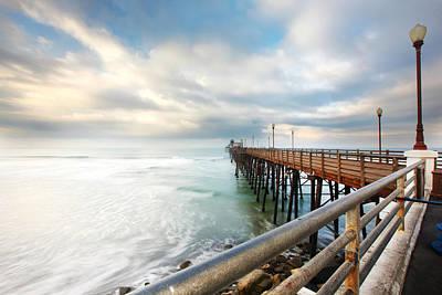 Oceanside Sunset 6 Poster by Larry Marshall