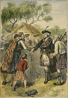 Oglethorpe Visiting Colony Poster by Granger