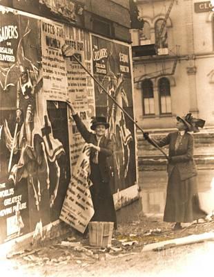 Ohio Suffragettes Posting Bills In Cincinnati Poster by Padre Art