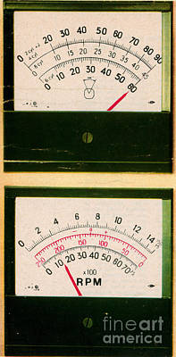 Ohmmeter And Mercury Meter Poster