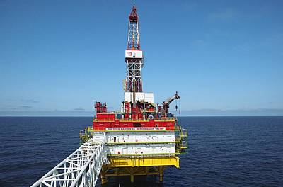 Oil Production Rig, Baltic Sea Poster