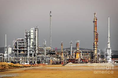 Oil Refinery Poster by Carlos Caetano