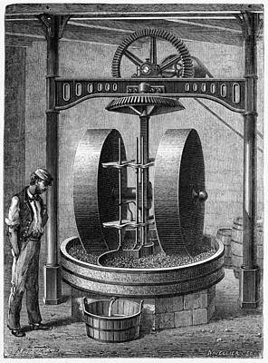 Oil Seed Grinding, 19th Century Poster
