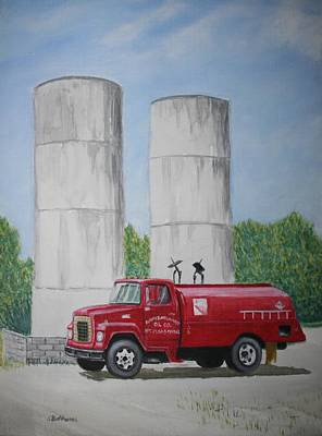 Poster featuring the painting Oil Truck by Stacy C Bottoms