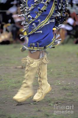 Ojibway Dancer In Jingle Dress Poster by Gordon Wood