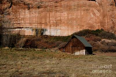 Poster featuring the photograph Old Barn In Angel Canyon #1  by Nola Lee Kelsey