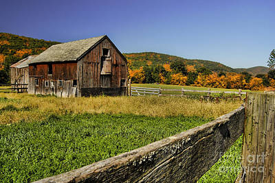 Old Barn In Connecticut Poster