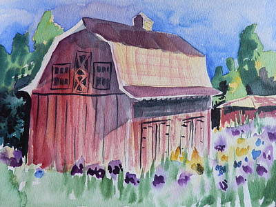 Old Barn In Payson Poster