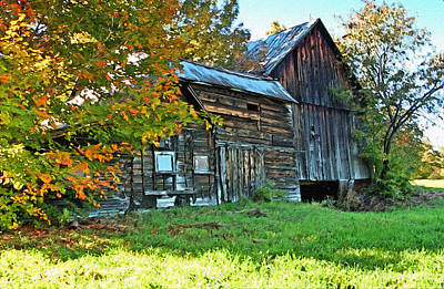 Old Barn In Vermont Poster