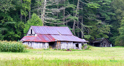 Old Barn Near Cashiers Nc Poster