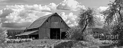 Old Barn Panorama Poster by Jim Chamberlain