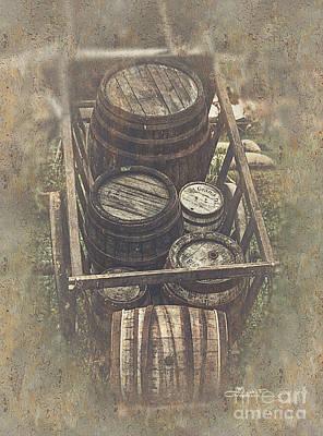 Old Barrels Poster by Jutta Maria Pusl