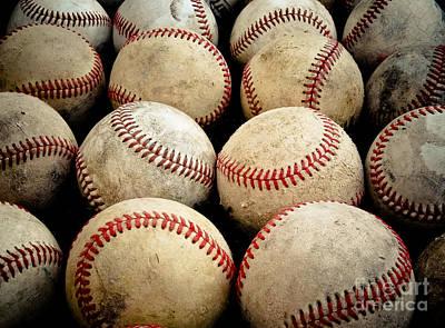 Old Baseballs Poster by Ben Haslam